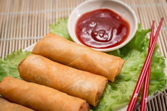 Ιαπωνικά τρόφιμα Harumaki Στοκ εικόνες με δικαίωμα ελεύθερης χρήσης