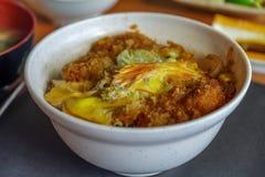 Ιαπωνικά τρόφιμα Katsudon Στοκ εικόνα με δικαίωμα ελεύθερης χρήσης