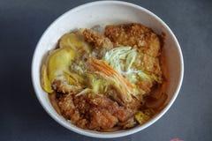 Ιαπωνικά τρόφιμα Katsudon Στοκ Εικόνα