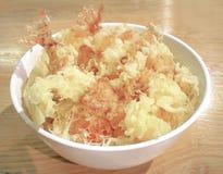 Ιαπωνικά τρόφιμα: tempura στο ρύζι Στοκ φωτογραφία με δικαίωμα ελεύθερης χρήσης