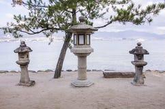 Ιαπωνικά φανάρια πετρών Στοκ Φωτογραφίες