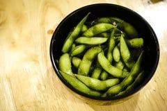 Ιαπωνικά φυστίκια Edamame Στοκ Εικόνα