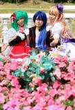 Ιαπωνικά cosplay κορίτσια χαρακτήρα anime Στοκ φωτογραφία με δικαίωμα ελεύθερης χρήσης