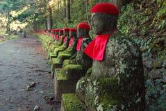 ιαπωνικά jizos Στοκ φωτογραφία με δικαίωμα ελεύθερης χρήσης