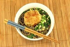 Ιαπωνικά noodles soba Στοκ εικόνες με δικαίωμα ελεύθερης χρήσης