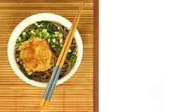 Ιαπωνικά noodles soba Στοκ Φωτογραφία