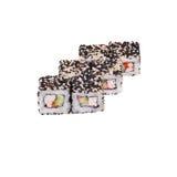 Ιαπωνικά skrevetkami και ρύζι ρόλων με το σουσάμι Στοκ φωτογραφία με δικαίωμα ελεύθερης χρήσης