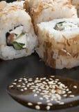 Ιαπωνικές γαρίδες ρυζιού σουσιών  Στοκ Φωτογραφία
