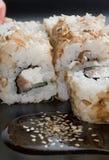 Ιαπωνικές γαρίδες ρυζιού σουσιών  Στοκ εικόνα με δικαίωμα ελεύθερης χρήσης