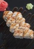 Ιαπωνικές γαρίδες ρυζιού σουσιών  Στοκ φωτογραφία με δικαίωμα ελεύθερης χρήσης