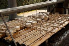Ιαπωνικές κουτάλες νερού Στοκ εικόνα με δικαίωμα ελεύθερης χρήσης