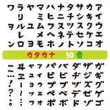 Ιαπωνικές πηγές katakana Στοκ φωτογραφία με δικαίωμα ελεύθερης χρήσης