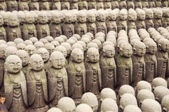 Ιαπωνικές σειρές Jizo Στοκ εικόνα με δικαίωμα ελεύθερης χρήσης