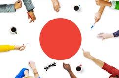 Ιαπωνική έννοια ενότητας υπερηφάνειας πατριωτισμού σημαιών της Ιαπωνίας Στοκ εικόνα με δικαίωμα ελεύθερης χρήσης