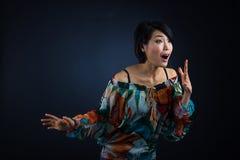 Ιαπωνική αιφνιδιαστική νέα κυρία Στοκ εικόνες με δικαίωμα ελεύθερης χρήσης