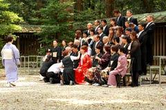Ιαπωνική γαμήλια τελετή Στοκ φωτογραφία με δικαίωμα ελεύθερης χρήσης