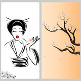 Ιαπωνική γυναίκα Στοκ Εικόνες
