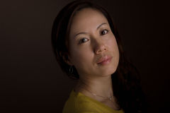 Ιαπωνική γυναίκα Headshot Στοκ φωτογραφία με δικαίωμα ελεύθερης χρήσης