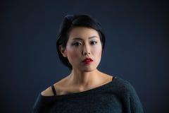 Ιαπωνική γυναικεία σκέψη Στοκ εικόνες με δικαίωμα ελεύθερης χρήσης