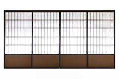 Ιαπωνική γλιστρημένη ξύλο πόρτα που απομονώνεται Στοκ φωτογραφία με δικαίωμα ελεύθερης χρήσης