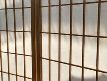 Ιαπωνική κουρτίνα εγγράφου στοκ εικόνες