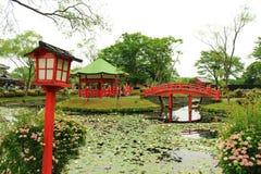 Ιαπωνική κόκκινη αρχιτεκτονική των λαρνάκων Στοκ φωτογραφίες με δικαίωμα ελεύθερης χρήσης
