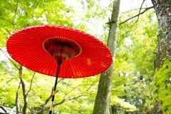 ιαπωνική κόκκινη ομπρέλα Στοκ φωτογραφία με δικαίωμα ελεύθερης χρήσης