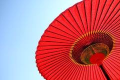 ιαπωνική κόκκινη ομπρέλα Στοκ Φωτογραφίες