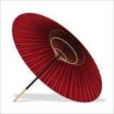 Ιαπωνική ομπρέλα ύφους σε ένα άσπρο υπόβαθρο Στοκ Εικόνες