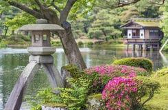 ιαπωνική πέτρα φαναριών κήπων Στοκ Εικόνα
