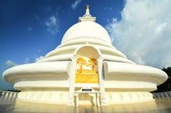 Ιαπωνική παγόδα ειρήνης σε Rumassala, Σρι Λάνκα Στοκ Εικόνες