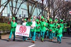 Ιαπωνική παρέλαση για την ημέρα του ST Πάτρικ Στοκ Φωτογραφία