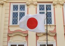 Ιαπωνική σημαία Στοκ Φωτογραφία