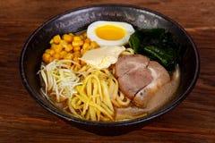 Ιαπωνική σούπα Ramen με το χοιρινό κρέας στοκ φωτογραφία με δικαίωμα ελεύθερης χρήσης