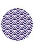 Ιαπωνική σύσταση σχεδίων κυμάτων άνευ ραφής στοκ εικόνα
