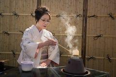 Ιαπωνική τελετή τσαγιού στοκ φωτογραφίες με δικαίωμα ελεύθερης χρήσης