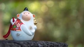 Ιαπωνική τυχερή γοητεία κουδουνιών πιθήκων στοκ φωτογραφία με δικαίωμα ελεύθερης χρήσης
