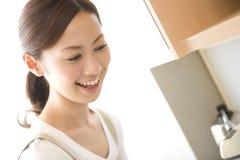 ιαπωνική χαμογελώντας γ&upsi στοκ φωτογραφία
