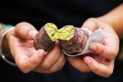 Ιαπωνική ψημένη στη σχάρα πατάτα Στοκ φωτογραφία με δικαίωμα ελεύθερης χρήσης