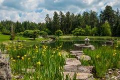 Ιαπωνικοί κήποι Στοκ εικόνες με δικαίωμα ελεύθερης χρήσης