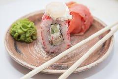 Ιαπωνικοί παραδοσιακοί ρόλοι και σούσια τροφίμων Στοκ Εικόνα