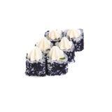 Ιαπωνικοί ρόλοι με το μαύρο ρύζι τυριών χαβιαριών και κρέμας Στοκ φωτογραφίες με δικαίωμα ελεύθερης χρήσης
