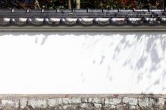 Ιαπωνικός άσπρος τοίχος Στοκ Εικόνα