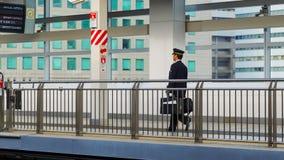 Ιαπωνικός αγωγός τραίνων Στοκ φωτογραφίες με δικαίωμα ελεύθερης χρήσης