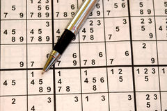 Ιαπωνικός αγώνας Sudoku Στοκ Εικόνες