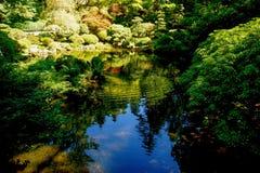 Ιαπωνικός βοτανικός κήπος της Zen στοκ εικόνες