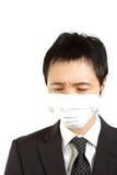 Ιαπωνικός επιχειρηματίας με τη μάσκα Στοκ Φωτογραφία
