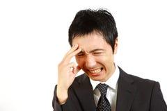 Ιαπωνικός επιχειρηματίας regrets  Στοκ Εικόνα