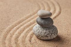 Ιαπωνικός κήπος πετρών της Zen Στοκ εικόνα με δικαίωμα ελεύθερης χρήσης