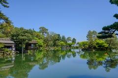 Ιαπωνικός κήπος σε Kanazawa, Ιαπωνία Στοκ φωτογραφίες με δικαίωμα ελεύθερης χρήσης